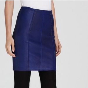 Blue leather Marc Jacobs mini skirt